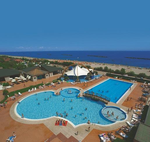 Spiaggia e Mare Riwiera Adriatycka  Włochy kemping z basenem
