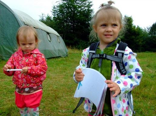 Pod namiot z dziećmi w góry