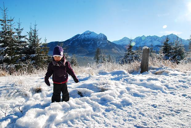 góry z dzieckiem