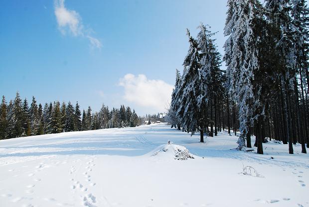 Góry zimą z małym dzieckiem