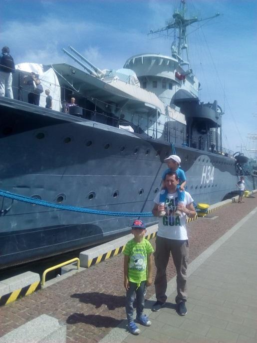 Błyskawica Gdynia z dzieckiem
