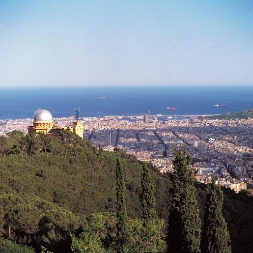 Barcelona z góry widok panorama
