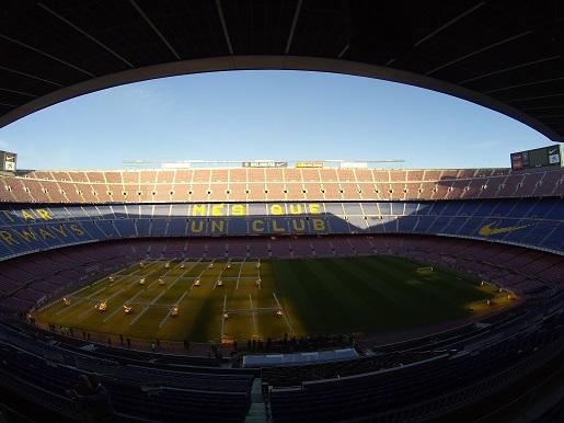 Barcelona zwiedzanie stadionu Camp Nou z dzieckiem