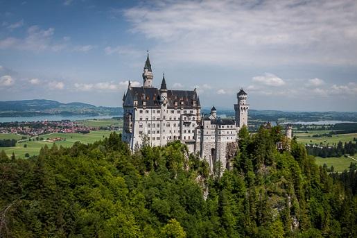 Bawaria z dziećmi atrakcje- widok na Zamek Hohenschwangau