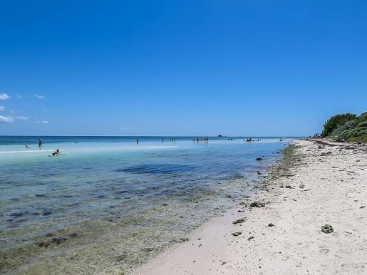 Florida Keys wyspy-Karaiby-z dzieckiem plaża