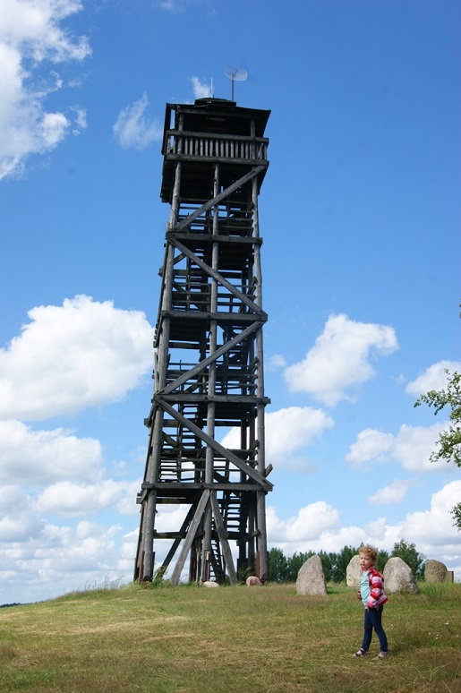 Góra Lemana wieża widokowa - Kaszuby wakacje z dziećmi