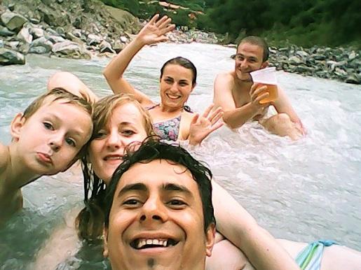 Gorąca rzeka w Tolantongo - Meksyk z dzieckiem