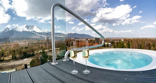 Horizon Resort Poprad opinie spa z widokiem na Tatry