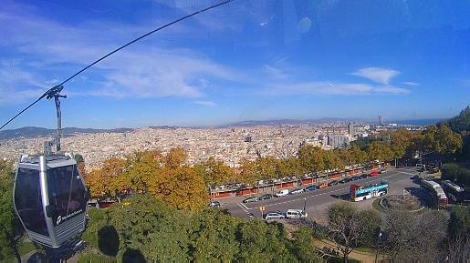 Kolejka linowa Telefèric de Montjuïc Barcelona Gondole