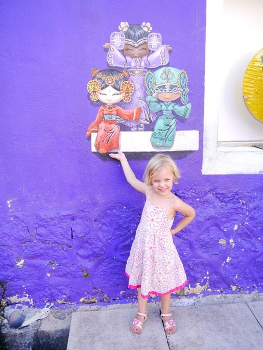 Malezja z dziećmi zwiedzanie Georgetown murale