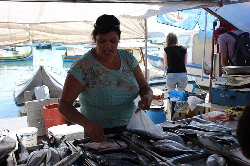 Marsaxlokk targ rybny Malta