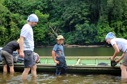 Mr.Jungle, rzeka - podróże z dzieckiem