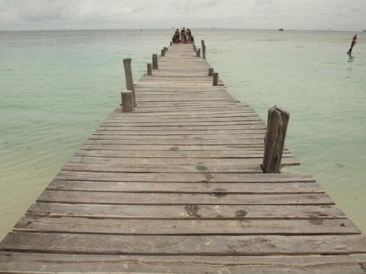 Meksyk Isla Mujeres z dzieckiem