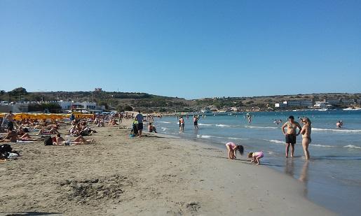 Najewiększa Plaża Mellieha Malta wakacje