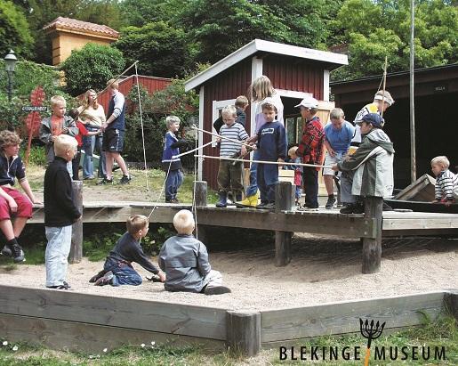 Plac zabaw dla dzieci przy Blekinge Muzeum Karlskrona