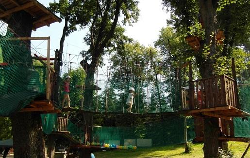 Rabka Zdrój Park linowy atrakcje dla dzieci
