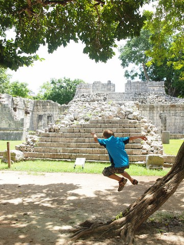 ruiny miasto Majów Meksyk