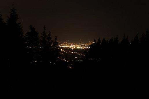 Skrzycznem widok nocą