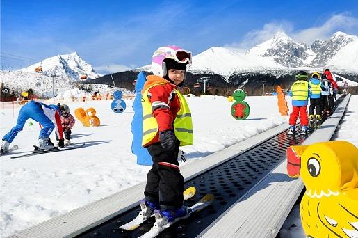 nauka dzieci na nartach