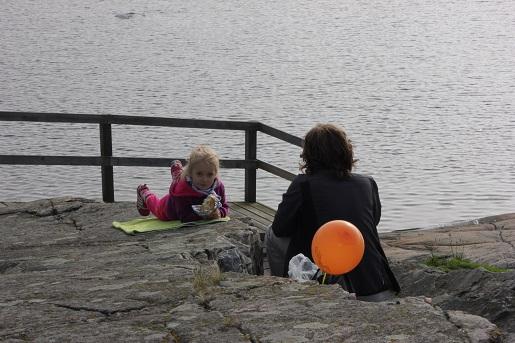 Szwecja Karlskrona z dzieckiem