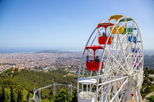 Tibidabo Barcelona atrakcje dla dzieci