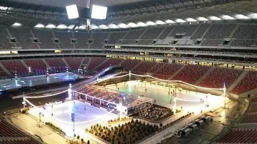 atrakcje dla dzieci Warszawa Stadion Narodowy Zimą