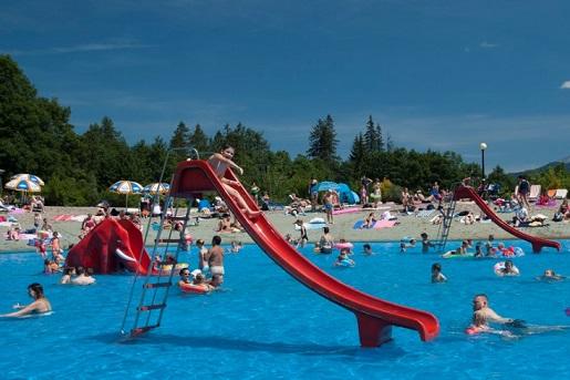basen kąpielisko polana szymoszkowa z dzieckiem