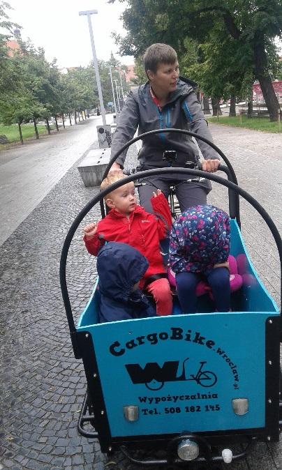 cargo bike wypożyczalnia rowerów dla dzieci przyczepka opinie
