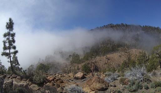 chmury Teide widoki - wycieczka z dzieckiem