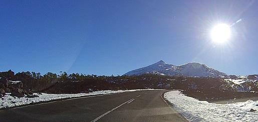 Teide ze śniegiem - dojazd zima