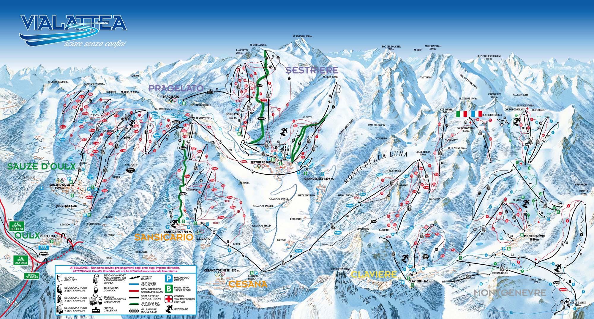 Ośrodki narciarskie Dolina Aosty
