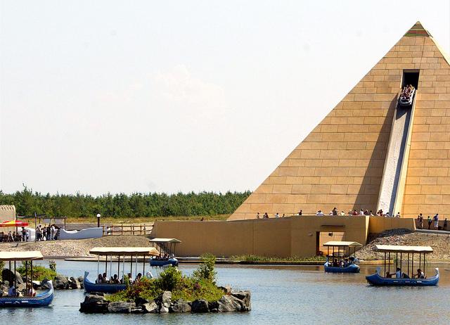 dolina faraonów Belantis Park Rozrywki LIPSK