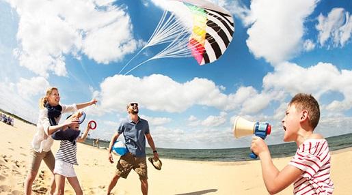 zabawy na plaży z dziećmi Gdańsk