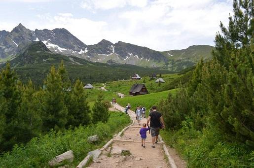 Góry z dzieckiem-Hala Gąsienicowa