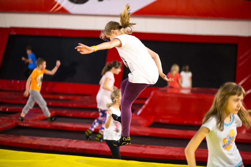 JumpWorld Wrocław trampoliny atrakcje dla dzieci