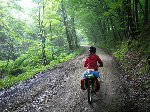 rowerem przez Jurę z 8 latkiem
