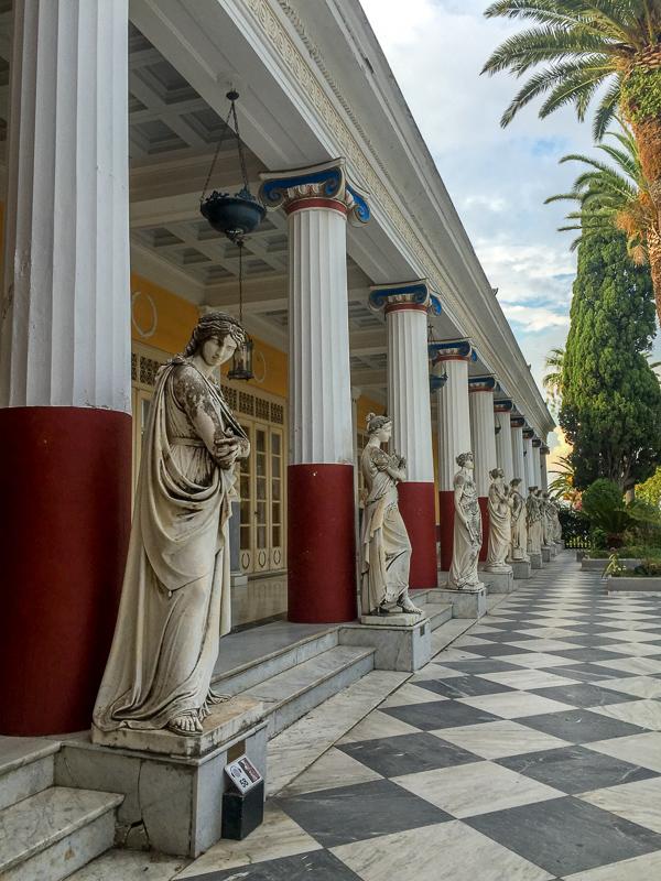 pałac Achillion Grecja Korfu opinie atrakcje