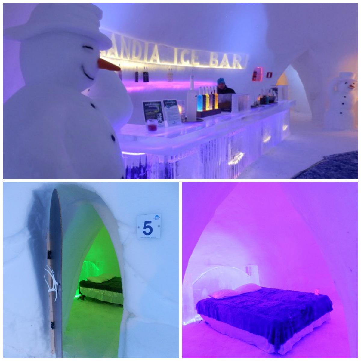 lodowy bar rovaniemi snowmanworld hotel iglo