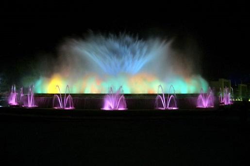magiczne fontanny Barcelona atrakcje dla dzieci
