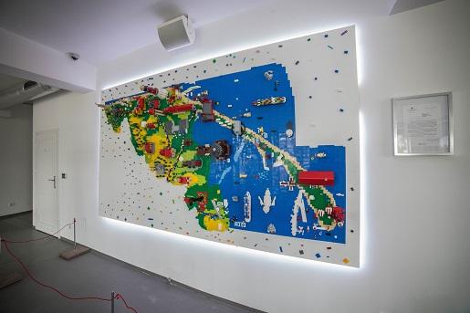 wystawa budowli z klocków- Półwysep Helski
