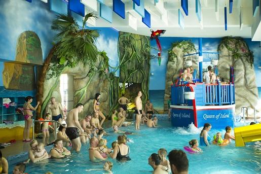 Wyspa Skarbów Aquacity Poprad atrakcje dla dzieci