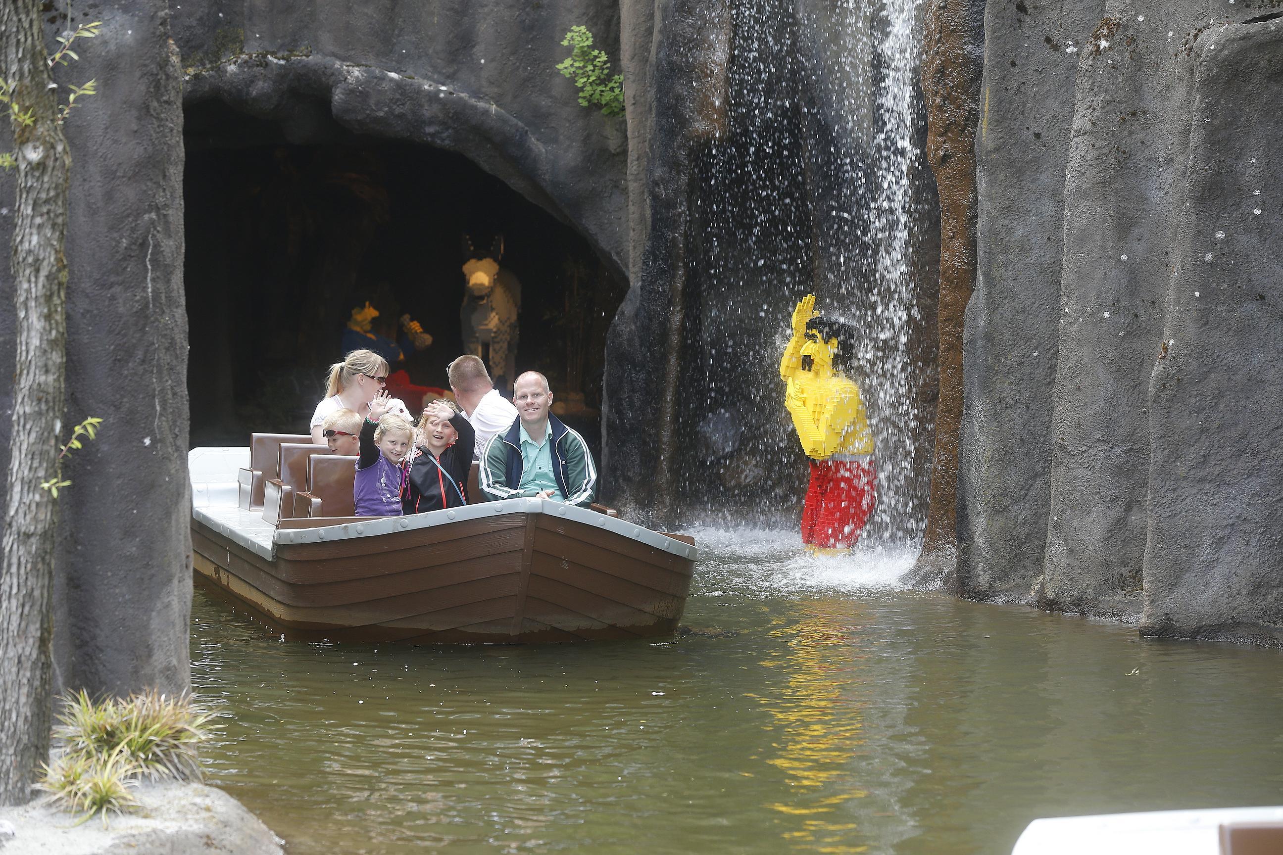 łódki atrakcje Legoland Billund
