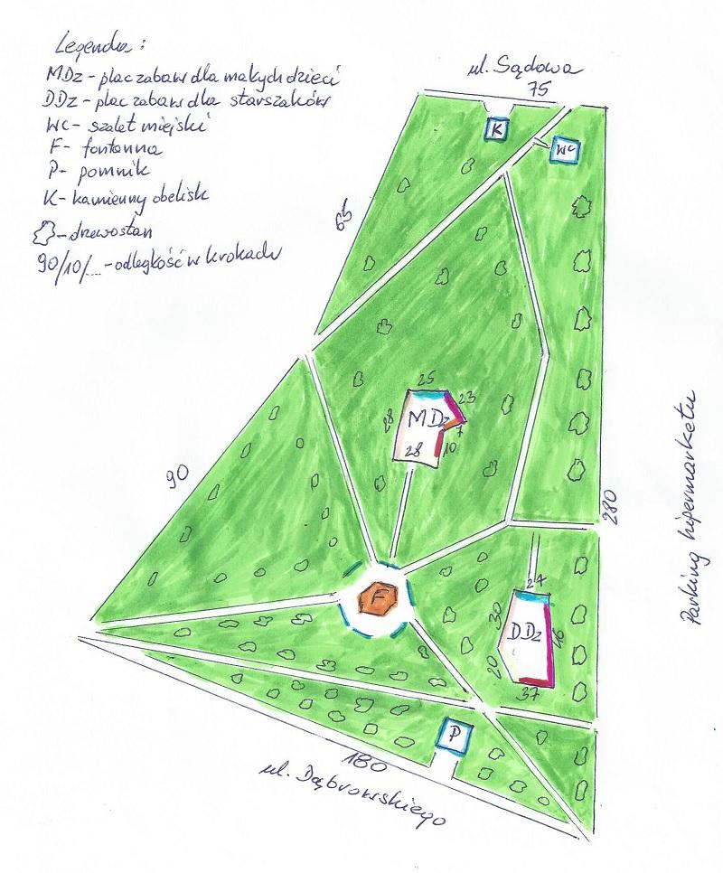 plan-place zabaw dla dzieci Nakło