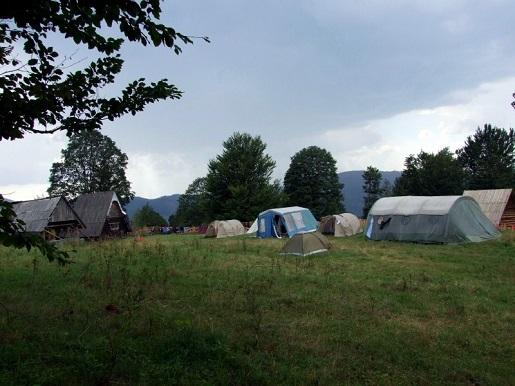 beskid żywiecki pod namiotem