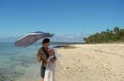 pod parasolem - z dzieckiem w tropikach