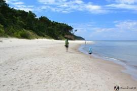 pusta plaża gdzie świnoujscie z dzieckiem