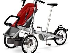 Rower i wózek dla dziecka w jednym