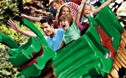 kolejka górska Królestwo Rycerzy Legoland