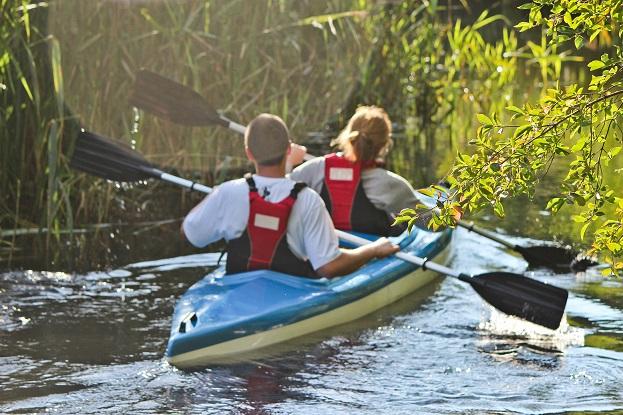 Spływy kajakowe Piaśnicą do morza-atrakcje dla dzieci