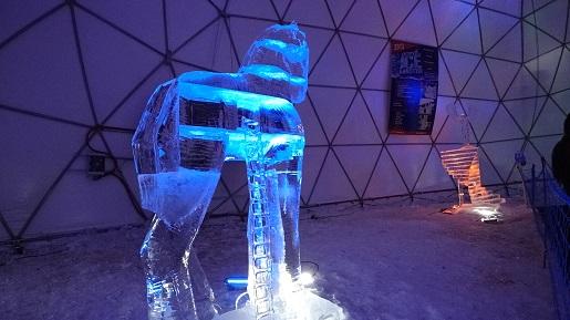 Stary Smokowiec rzeźby lodowe